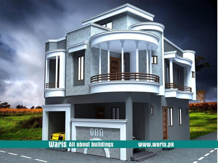 Waris House 5 Marla 3d View Elevation 25x43 In Gujranwala Cantt Pakistan Minimalista Village House Design Architectural Design House Plans Architecture House