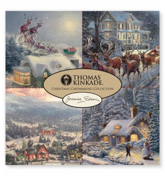 Good Paper Pads For Card Making Part - 2: Thomas Kinkade 8 X 8 Cardmaking Collection Pad - Christmas