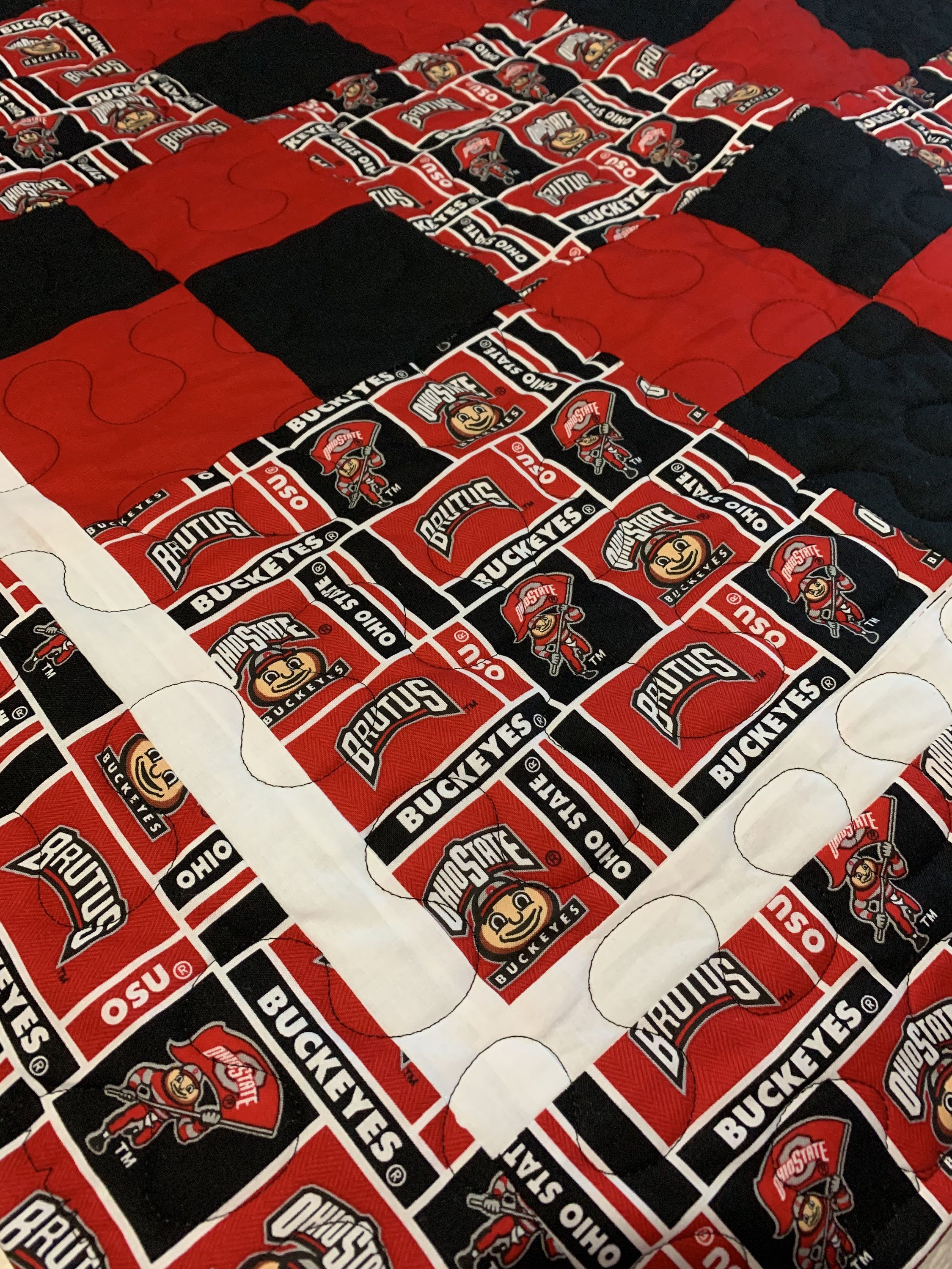 Ohio State Buckeyes Quilt Reserved For Tabitha Ohio State Buckeyes Quilts Buckeyes