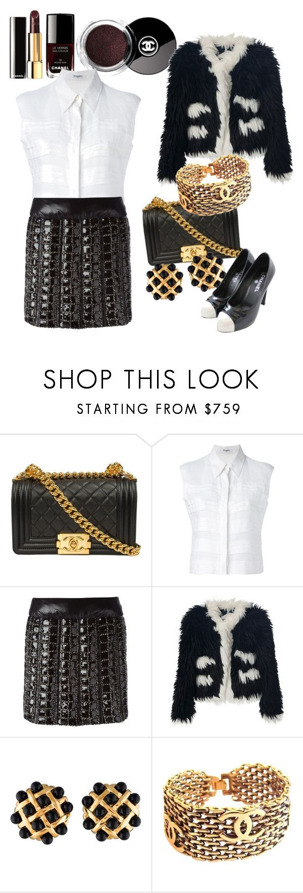 """""""Untitled #273"""" by alexandrawaldorf ❤ liked on Polyvore featuring Chanel, women's clothing, women, female, woman, misses and juniors"""