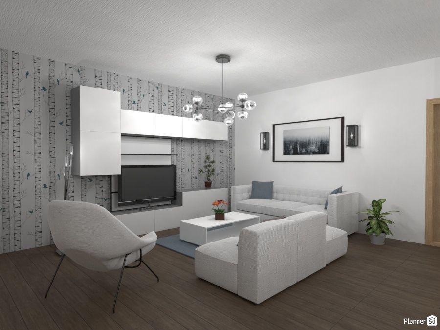 Living Room Interior White Room Design Planner 5d Interior App