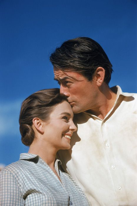 """Movie """"The Big Country"""" starred Gregory Peck & Jean Simmons - their chemistry and was wonderful"""