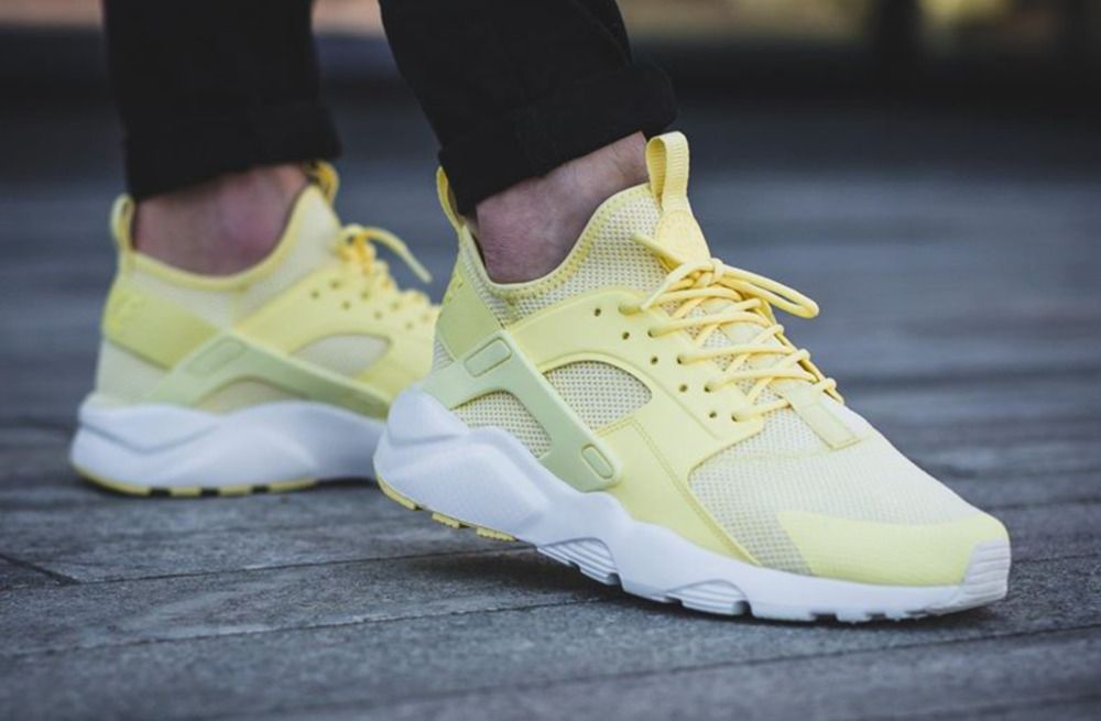 nuestra de Inapropiado  NIKE AIR HUARACHE RUN ULTRA BR LEMON CHIFFON & SUMMIT WHITE LIMITED EDITION  #Nike #RunningShoes | Nike air huarache, Huarache run, Air huarache