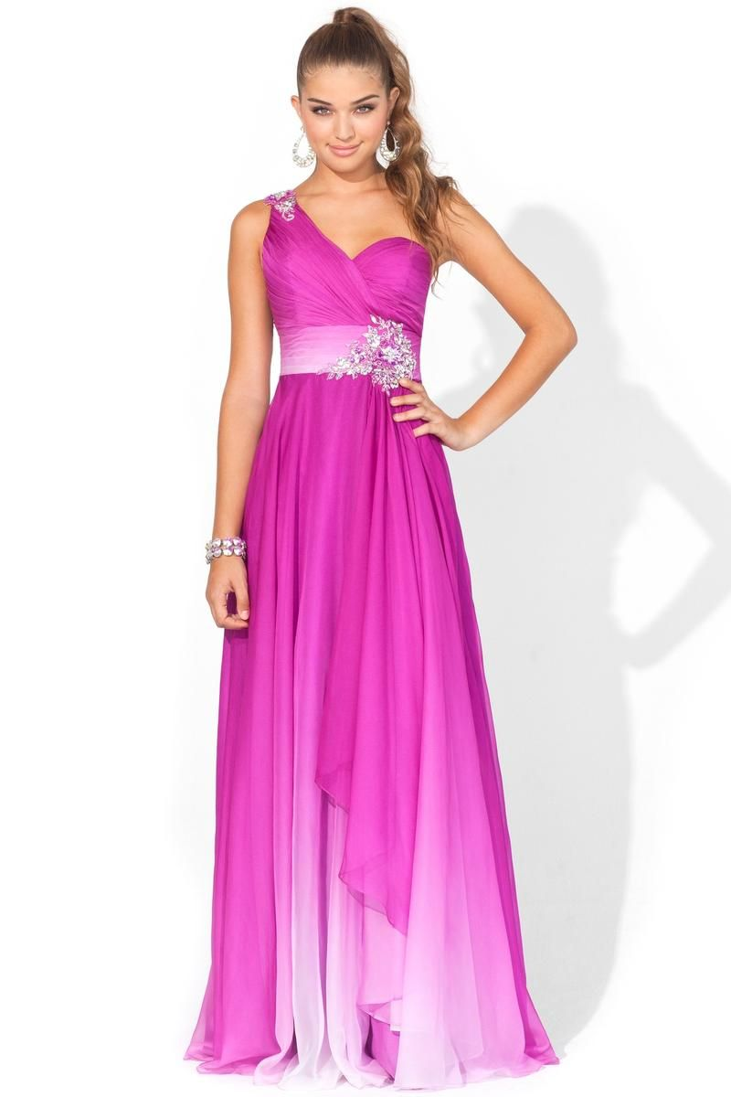 Blush Prom #9357, Purple, Size 6 -This stunning one-shoulder has a ...