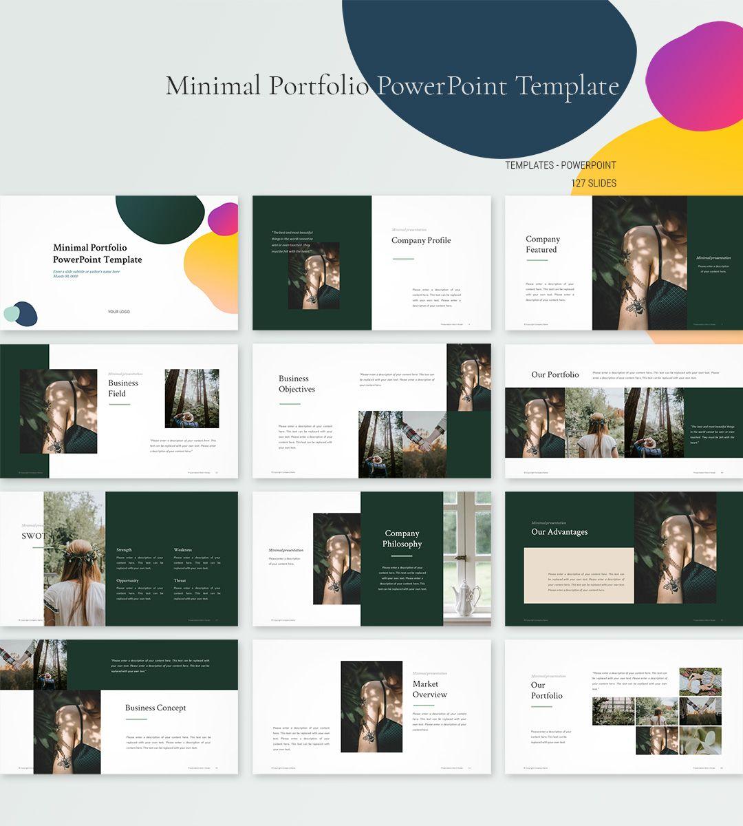 Minimal Portfolio Powerpoint Template Download Powerpoint Pptwear Powerpoint Design Templates Portfolio Layout Template Architecture Portfolio