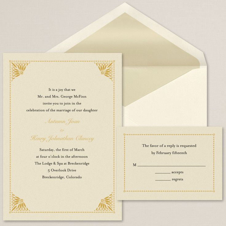Exclusively Weddings Simply Elegant Wedding Invitation Is A Contemporary Design On Shimmering Cardstock Featuring Detailed