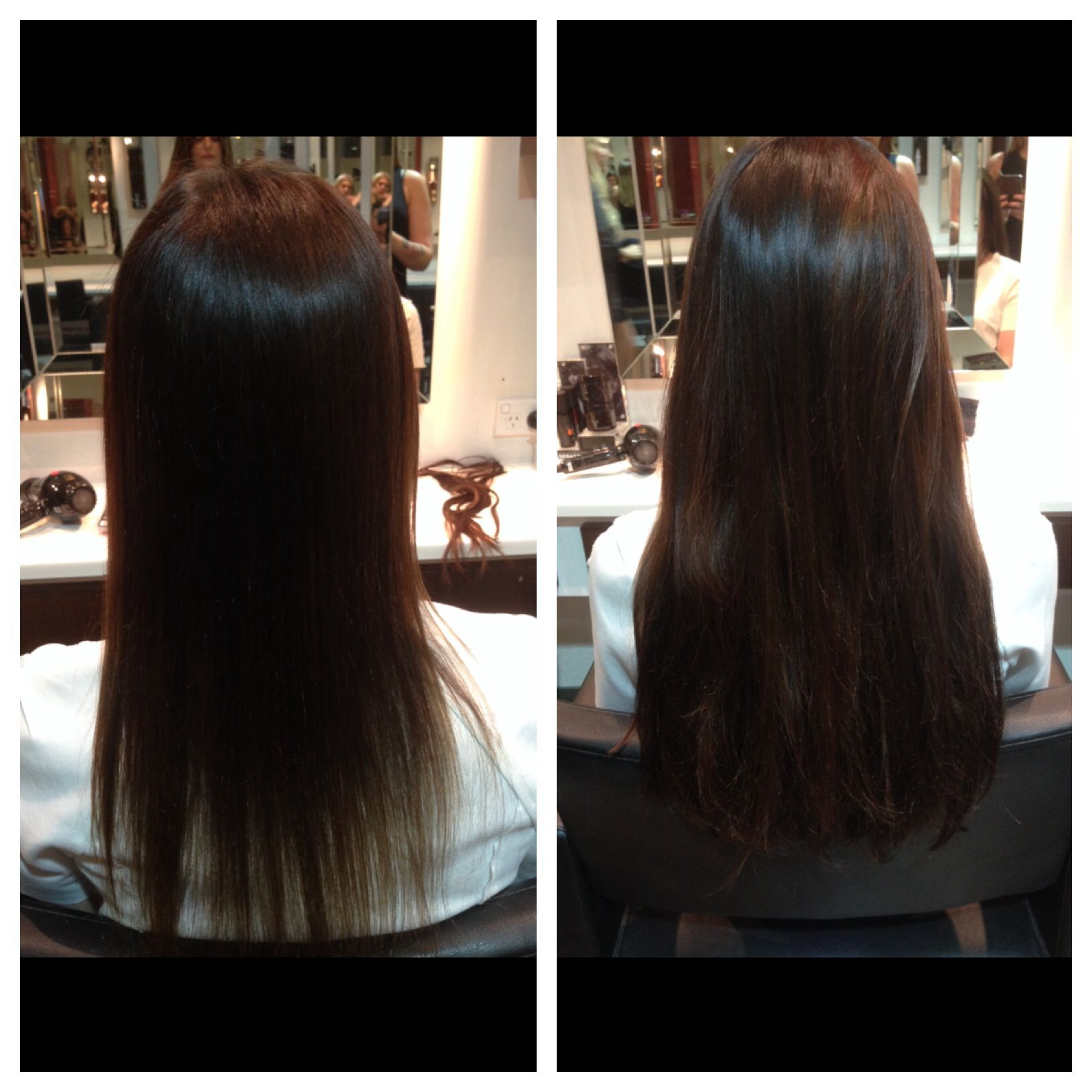 Before N After Extensions Added For Thickness Hair Extension