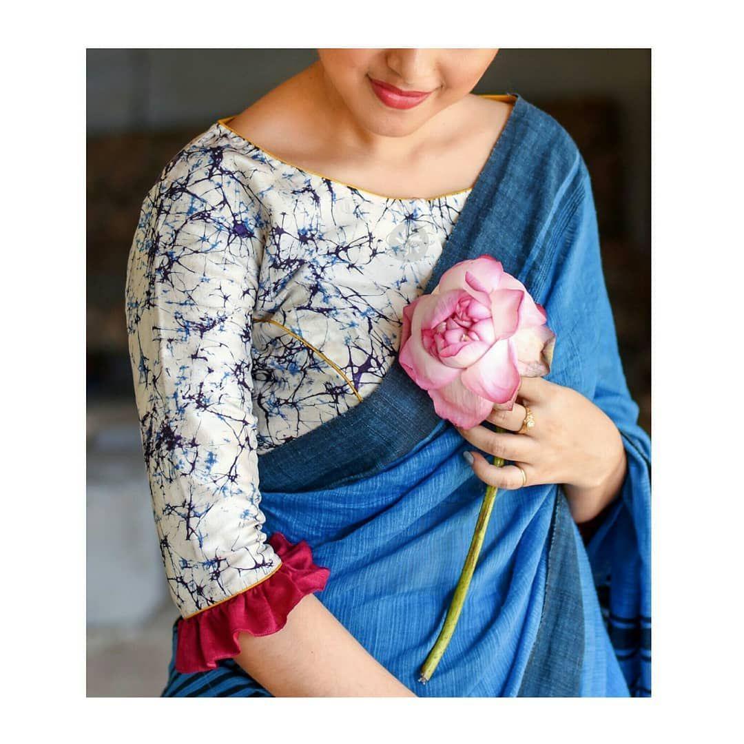 Brand Name : Sayanti Ghosh. Contact : https://www.instagram.com/sayantighoshdesignerstudio/ #blousedesigns