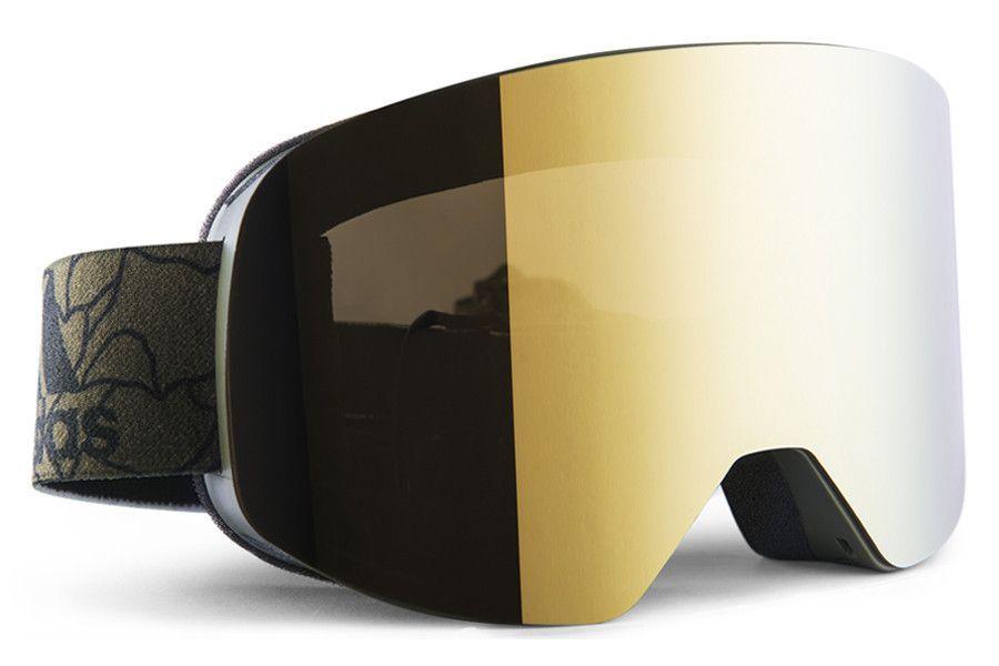 Adidas Backland Olive Cargo Matt Gold Goggles, Gold