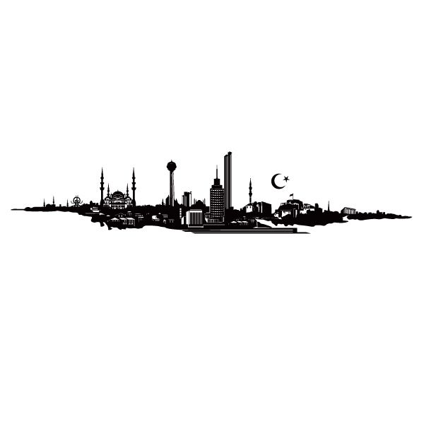 Ankara Skyline from:  http://www.tattoodonkey.com/art-tattoo-ankara-tattoo/