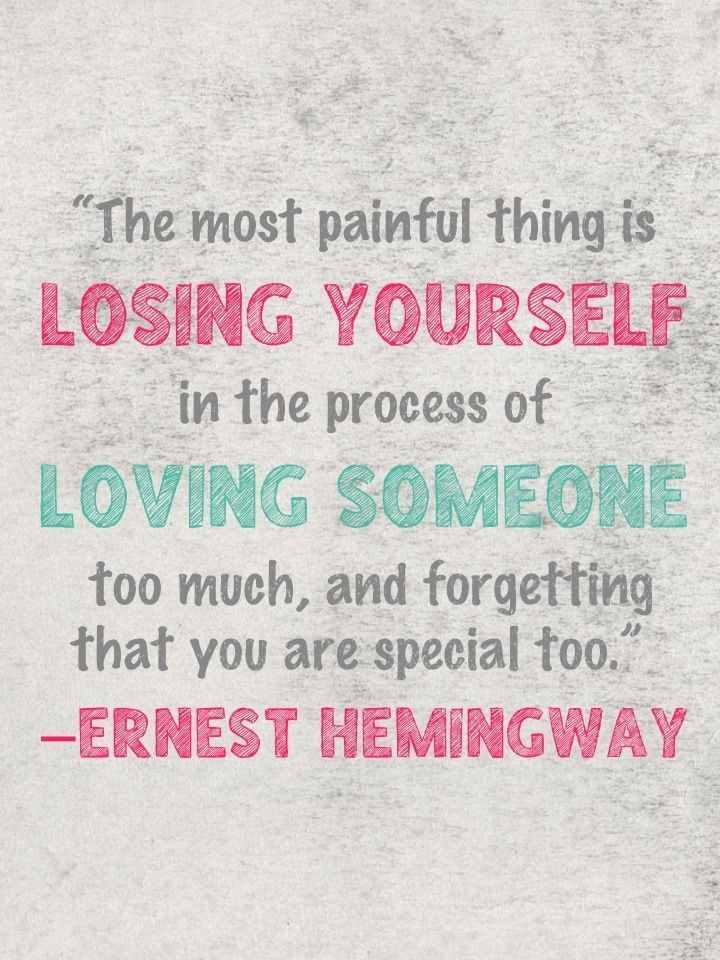 Don't lose yourself. This is too often overlooked, and we don't