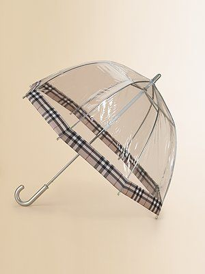b526576a5 Burberry Clear Umbrella..for when I feel like having a Charlotte moment