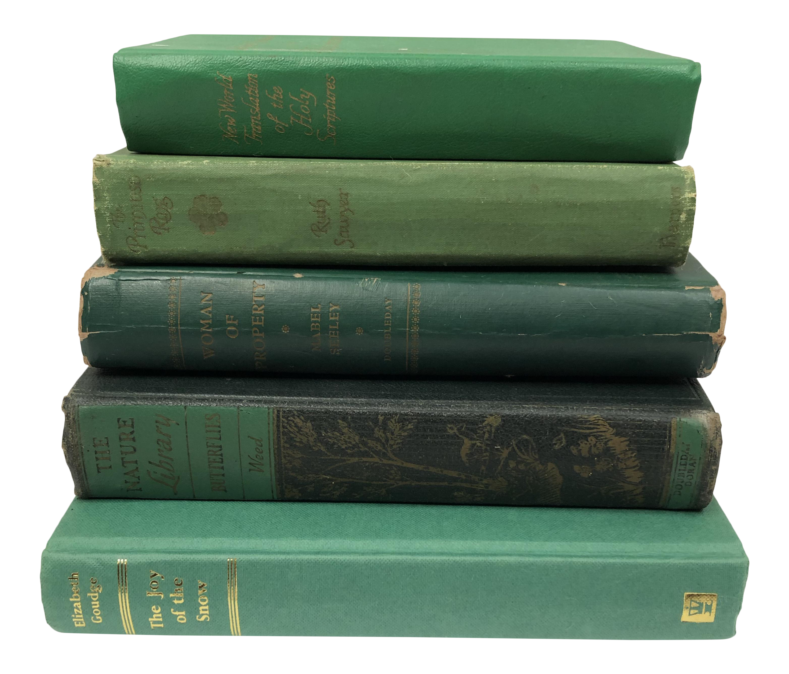 Vintage Green Book Stack Set Of 5 On Chairish Com Vintage Book Decor Green Aesthetic Green Books