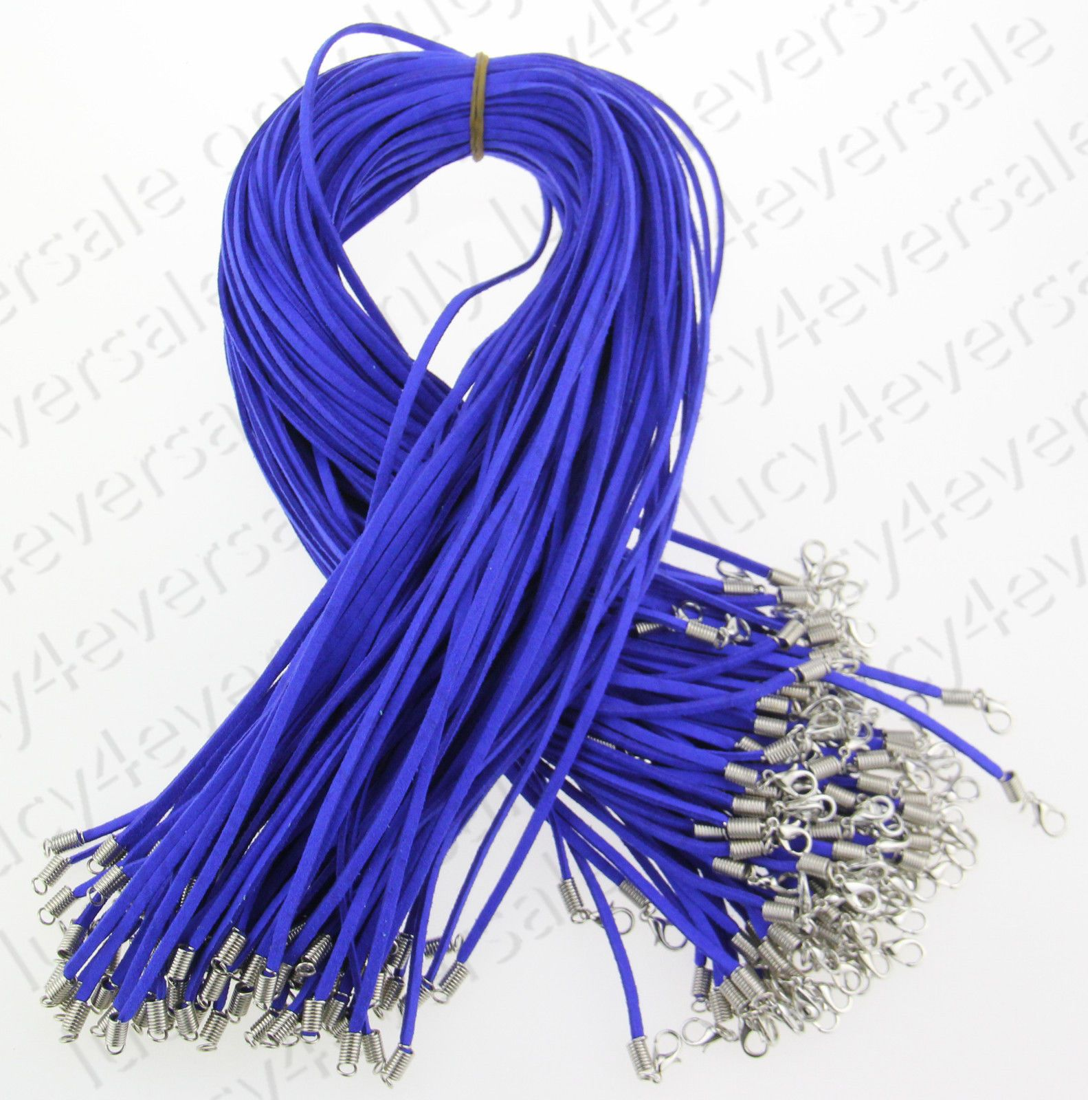 10 PCS Wholesale Suede Leather String Necklace Cords With Clasp DIY Jewelry