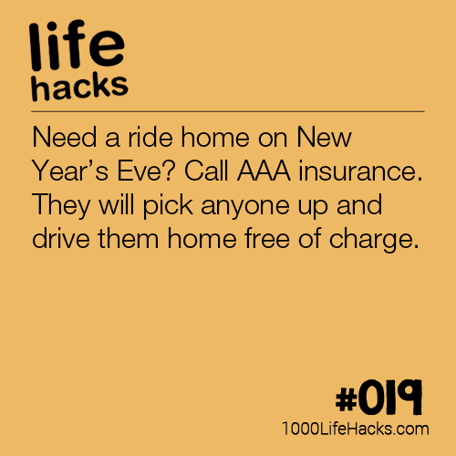 Free Ride Home On New Years Eve Life Insurance Facts Term Life