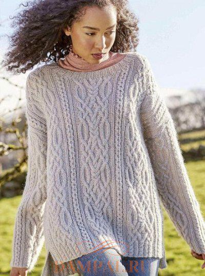 e8745e1ccfa женский свитер спицами