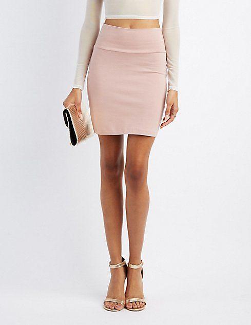 7bcf924e5d Bodycon Mini Skirt in 2019 | Bottoms-Skirts | Mini skirts, White ...