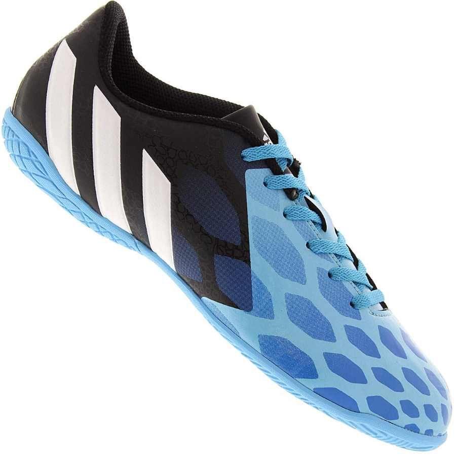Chuteira Adidas Predito Instinct Futsal Indoor Masculina Azul / Preta