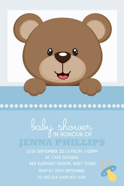 bears baby shower Pesquisa do Google Baby Shower David