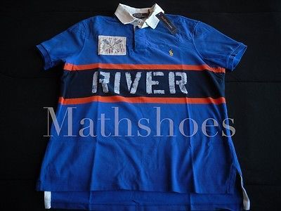 Ralph Lauren Wild River Polo $145NWT rafting explorer rugby patch usa flag vtg M