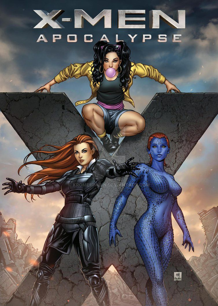 Jean Grey, Jubilee & Mystique by Kromespawn (Mike Krome)