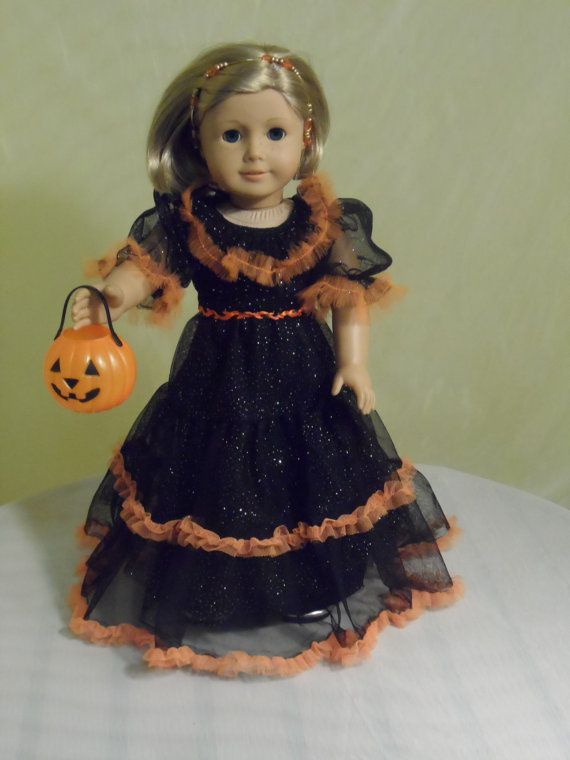 Long Ruffled Fun Party dress for your American Girl doll and any 18 ...