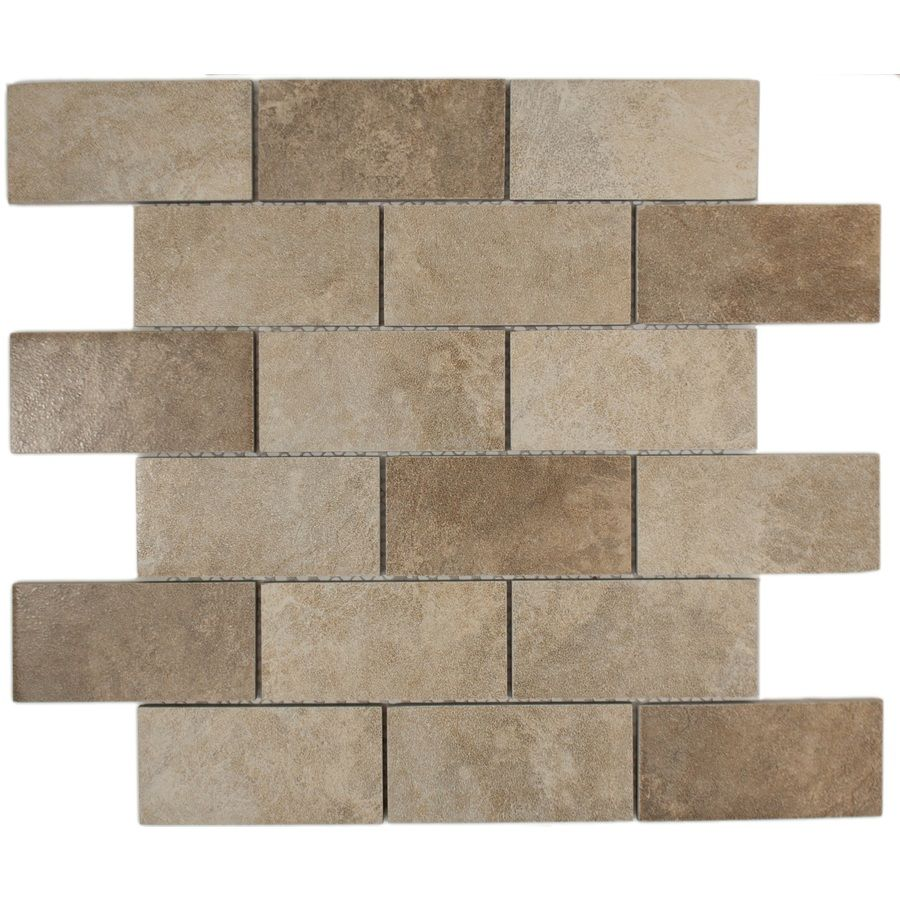 Lowes Paint Colors For Bedrooms 12 In X 12 In Chiaro Tumbled Natural Stone Mosaic Subway Wall Tile