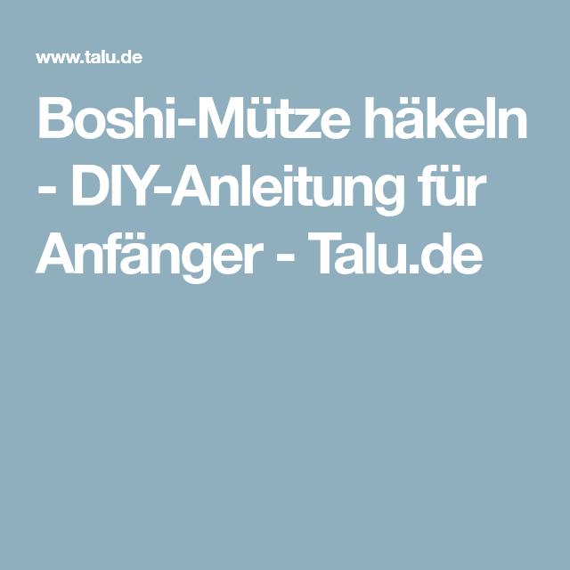Boshi Mütze Häkeln Diy Anleitung Für Anfänger Häkeln Pinterest