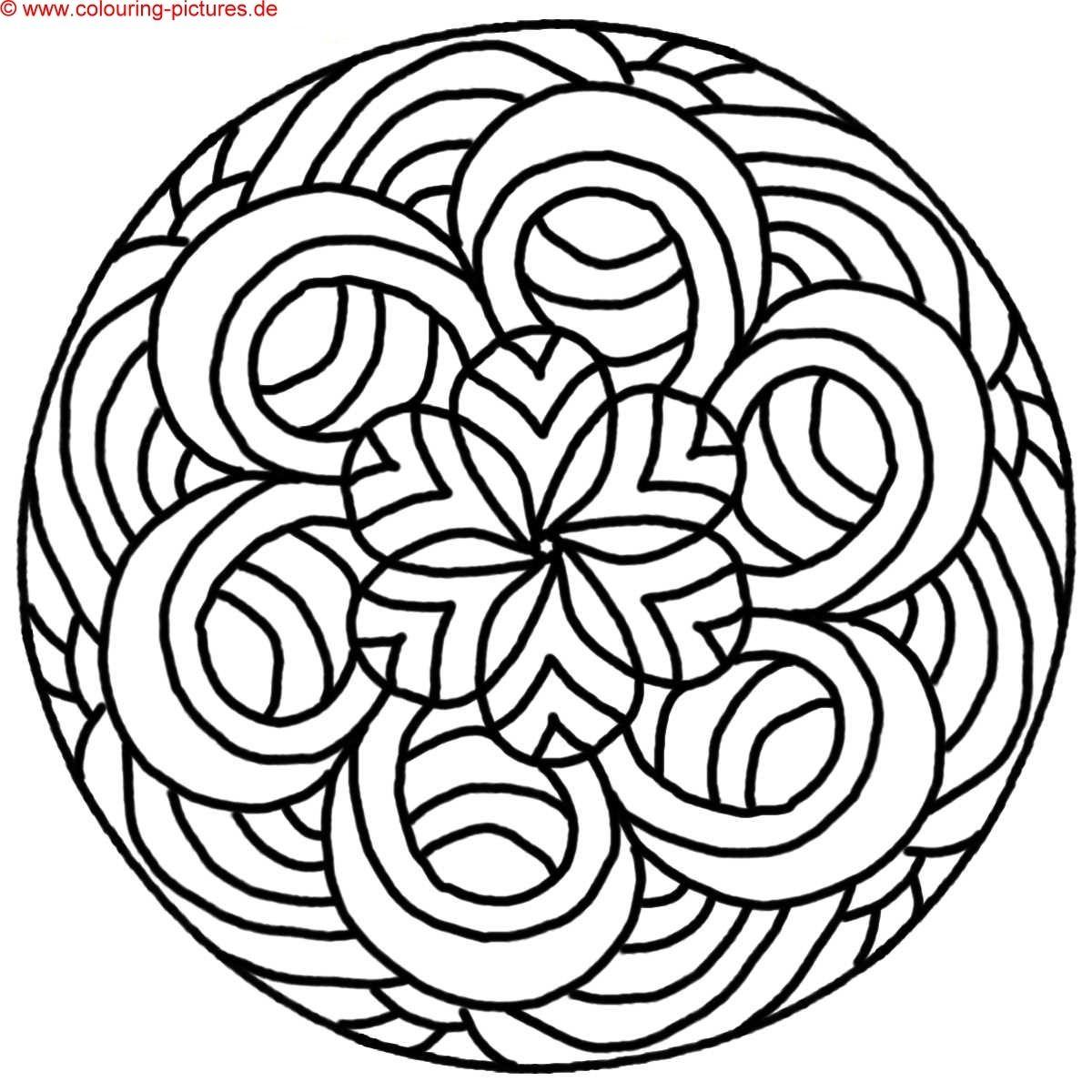 Mandala Malvorlage | ausmalbilder | Pinterest