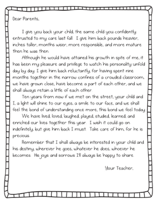How To End A Letter To A Teacher From A Parent How To Wiki 89 We are looking forward to a productive partnership with you to ensure our children can achieve their highest potential. end a letter to a teacher from a parent
