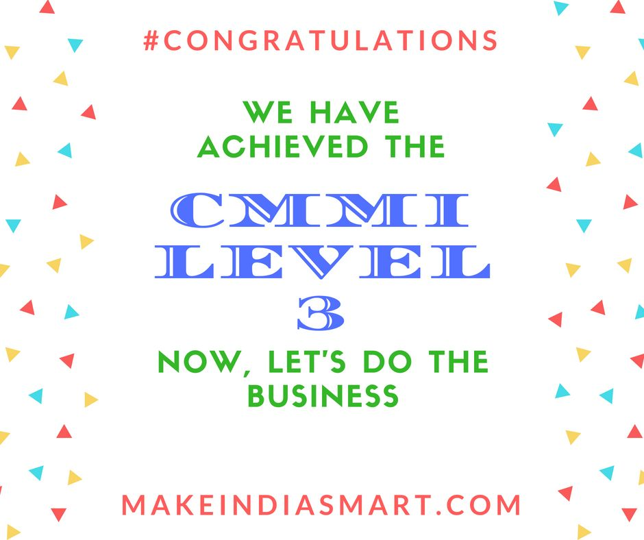 We Are Proud To Have The Cmmi Level 3 Certificate That We Awarded