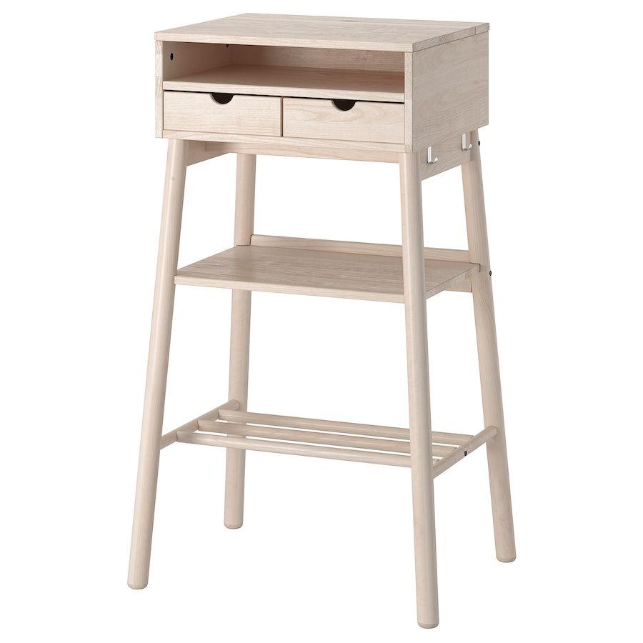 Knotten Standing Desk White Birch Ikea In 2020 Ikea Standing Desk White Desks Standing Desk