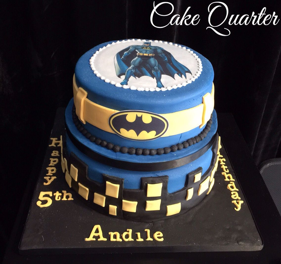 Batman themed birthday cake Two tier birthday cake Designed by
