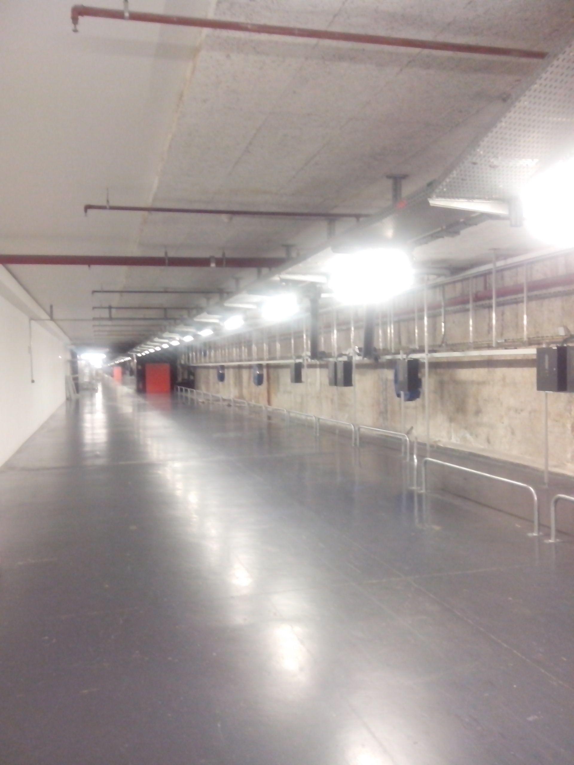 Les couloirs de la Bibliothèque Nationale de France : idéal pour perdre du poids.