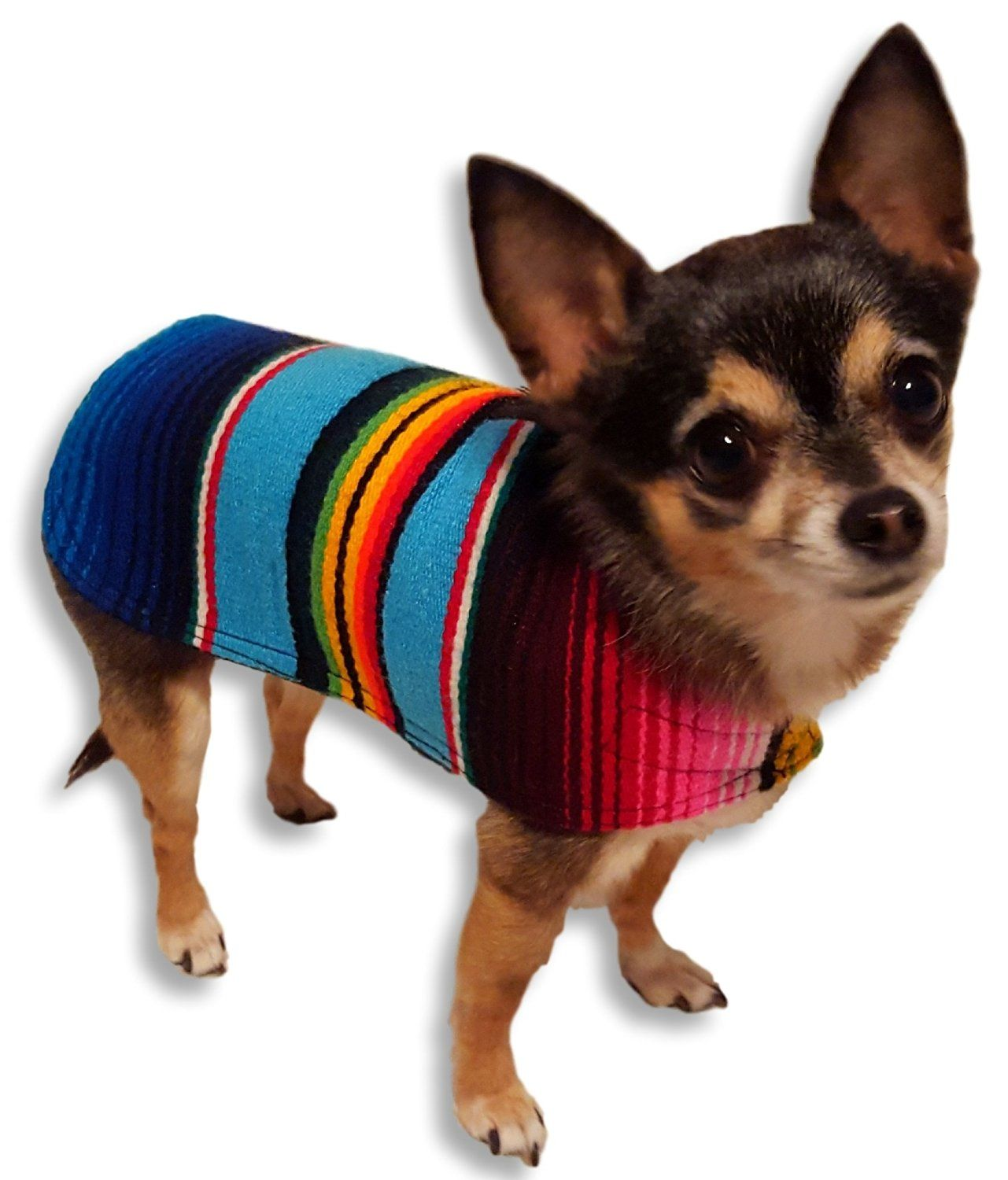 Vest Dog Clothes Handmade Dog Poncho from Mexican Serape Blanket Sweater Coat Costume