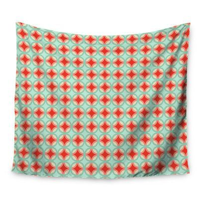KESS InHouse Retro Circles by Catherine McDonald Wall Tapestry Size: