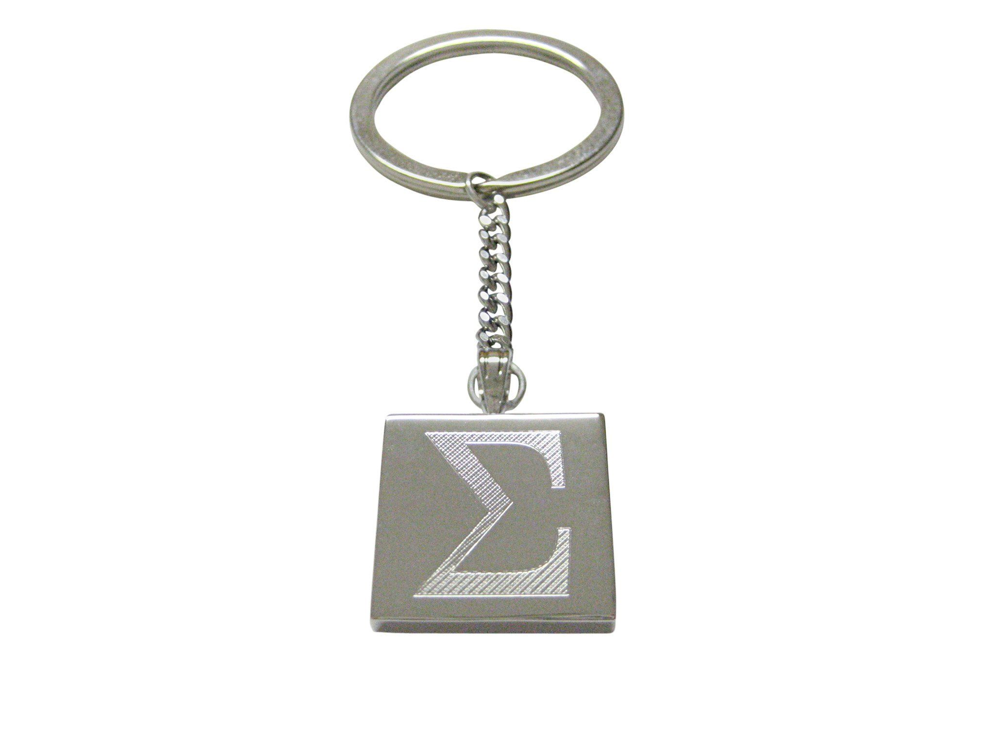 Silver toned etched mathematical greek sigma symbol pendant keychain silver toned etched mathematical greek sigma symbol pendant keychain biocorpaavc Choice Image