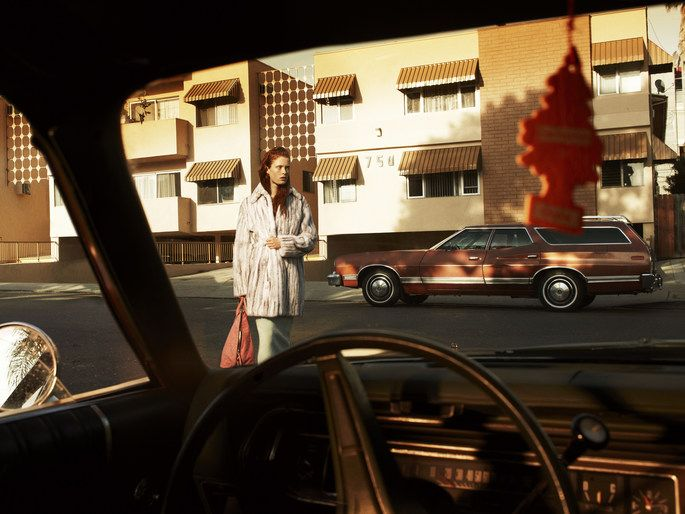 """Laurie Bartley photographs """"Shangri-L.A."""" styled by Samira Nasr for Elle US, Sep 2013"""