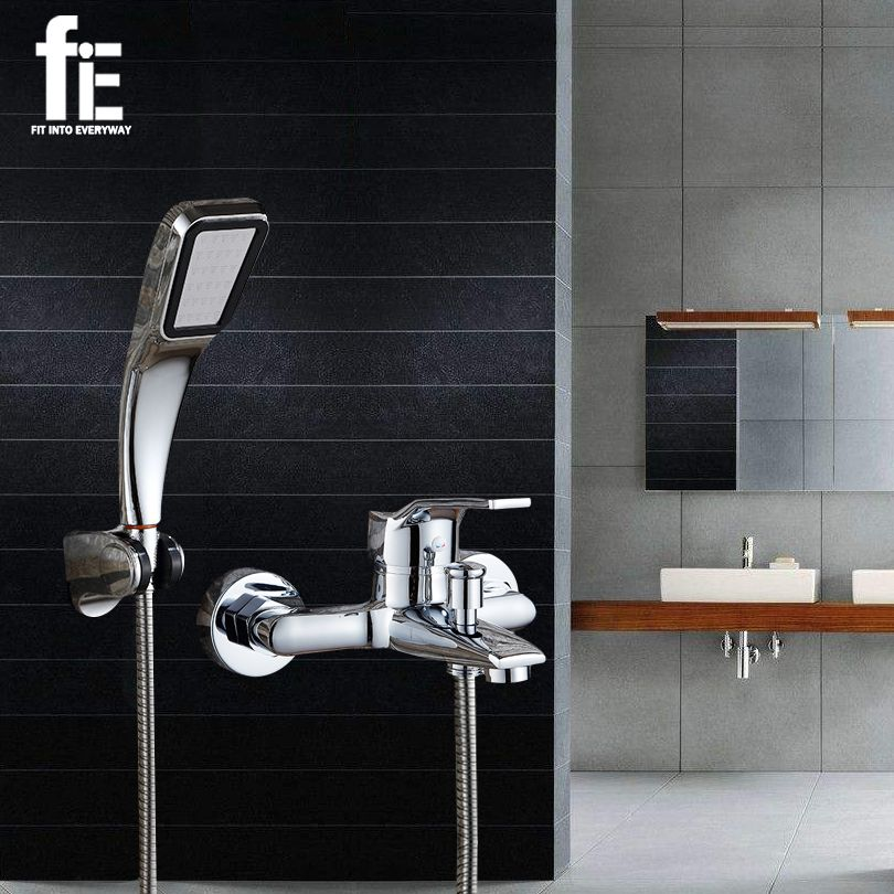 Compare Discount fiE Wall Mounted Bathroom Faucet Bath Tub Mixer Tap ...
