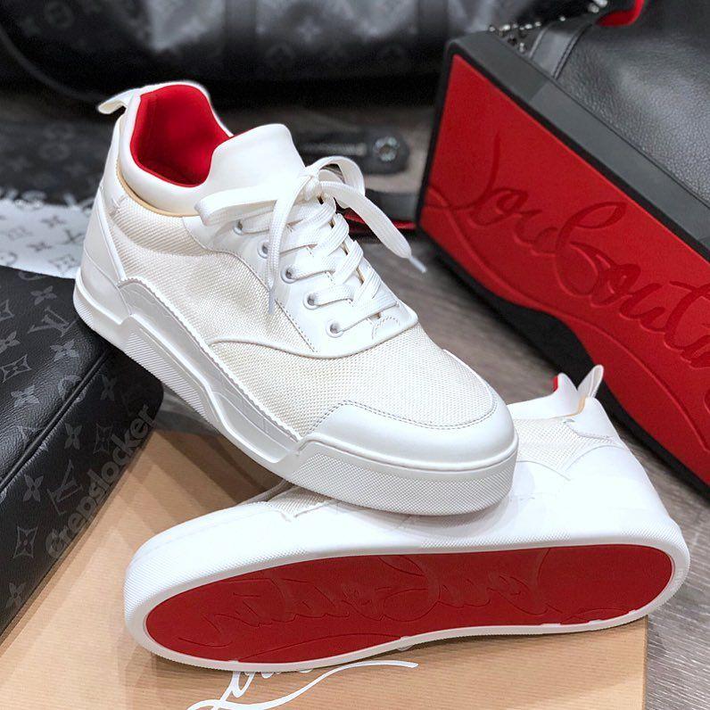 Louboutin white Aurelien | Luxury sneakers men