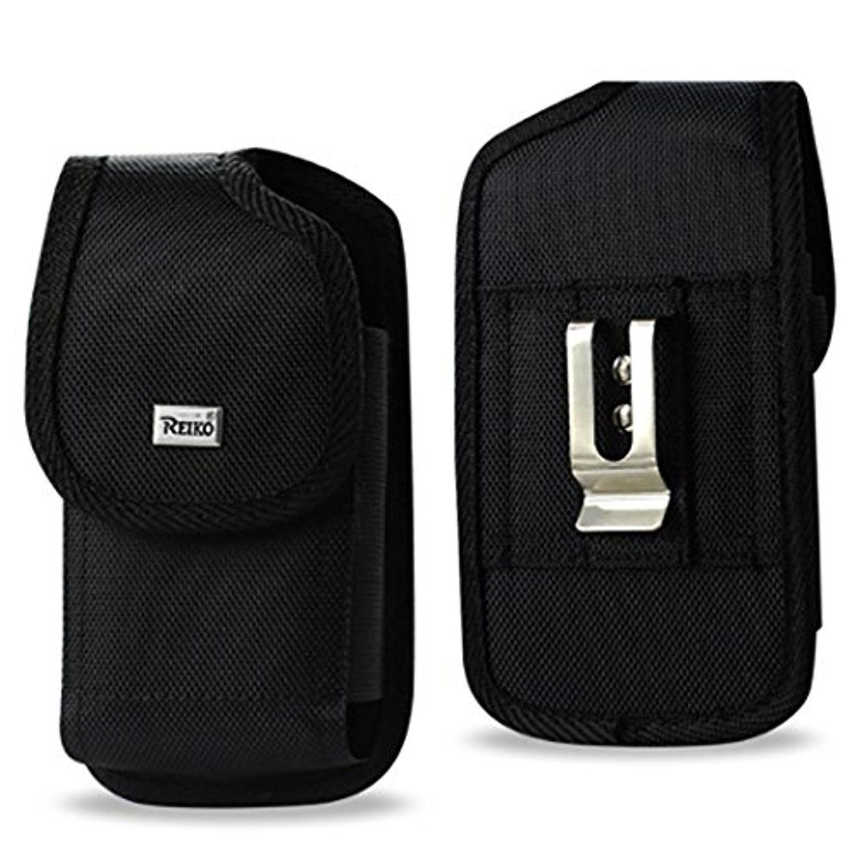 "Iphone 7 PLUS (5.5"") Large Black Rugged Pouch Belt Clip"