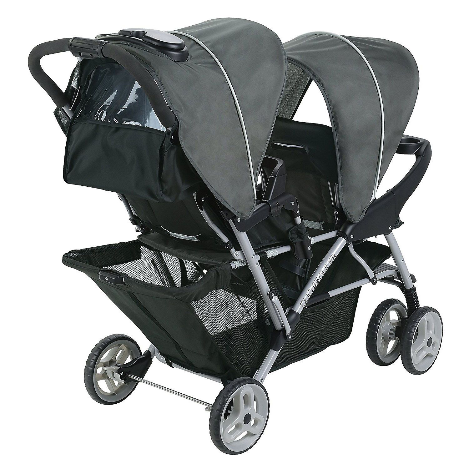 Got Twins? Graco DuoGlider Click Double Stroller + Infant