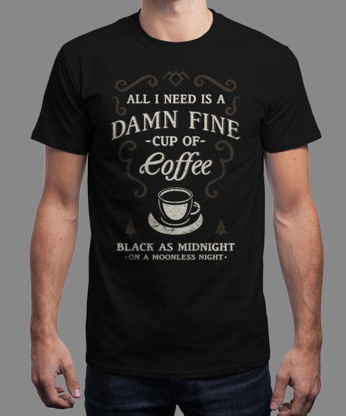 """""""Black as Midnight"""" is today's £9/€11/$12 tee for 24 hours only on Pin this… 
