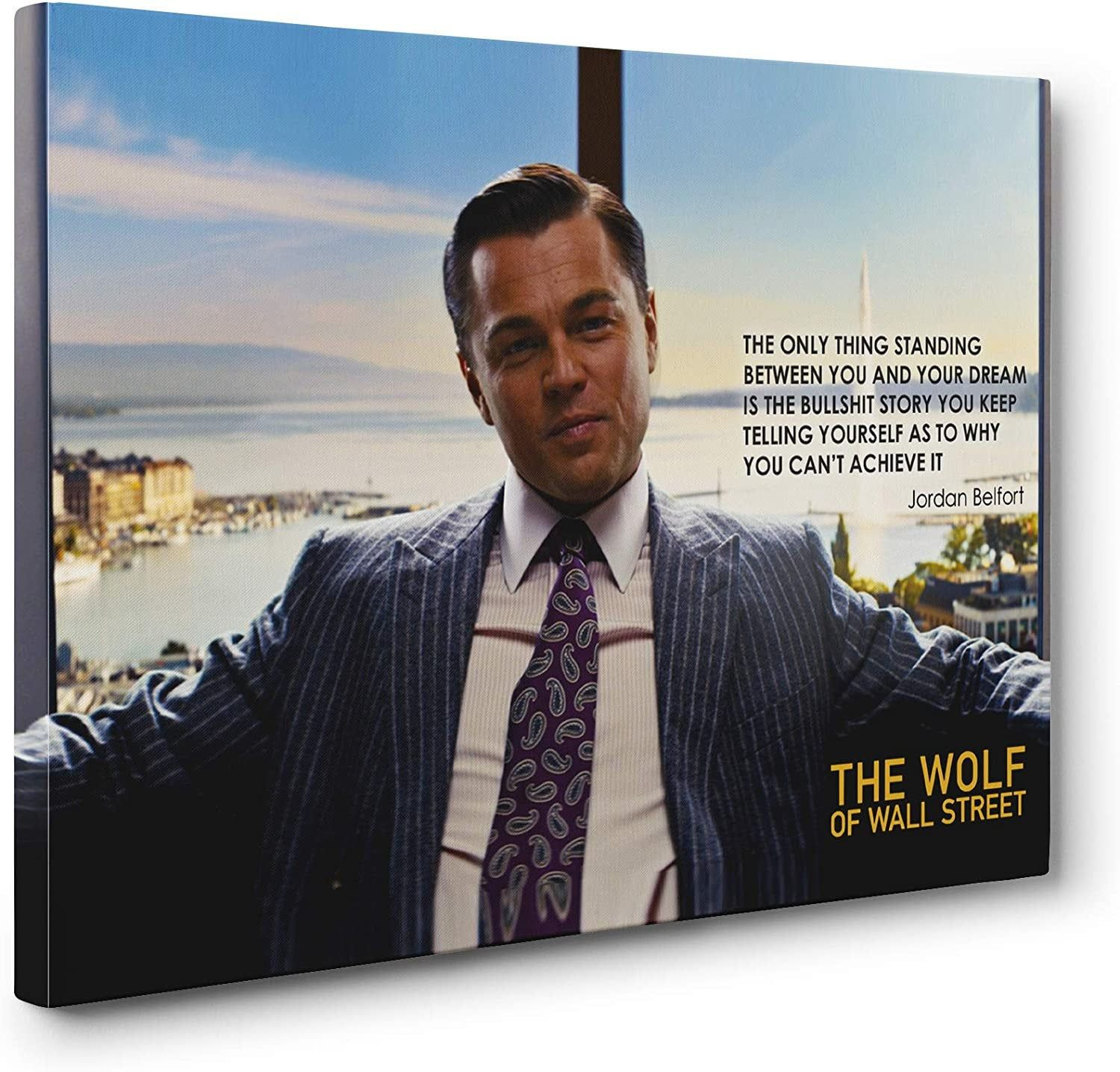 Wolf Of Wall Street Switz Leo Leonardo Dicaprio Money Quote Etsy In 2020 Wolf Of Wall Street Motivational Prints Wall Art Quotes
