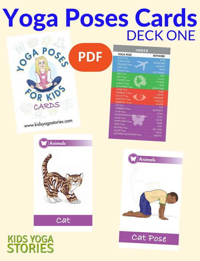 Yoga Poses For Kids Cards Deck One Yoga For Kids Teaching Yoga To Kids Kids Yoga Classes