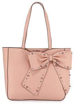 cf3ba260a0 Karl Lagerfeld Paris Canelle Bow-Embellished Shoulder Tote Bag ...
