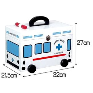 I was thinking of getting this adorable ambulance first aid box for my home but it's so pricey. On second thought, maybe I should try to find a old chest box and paint one myself some day :P