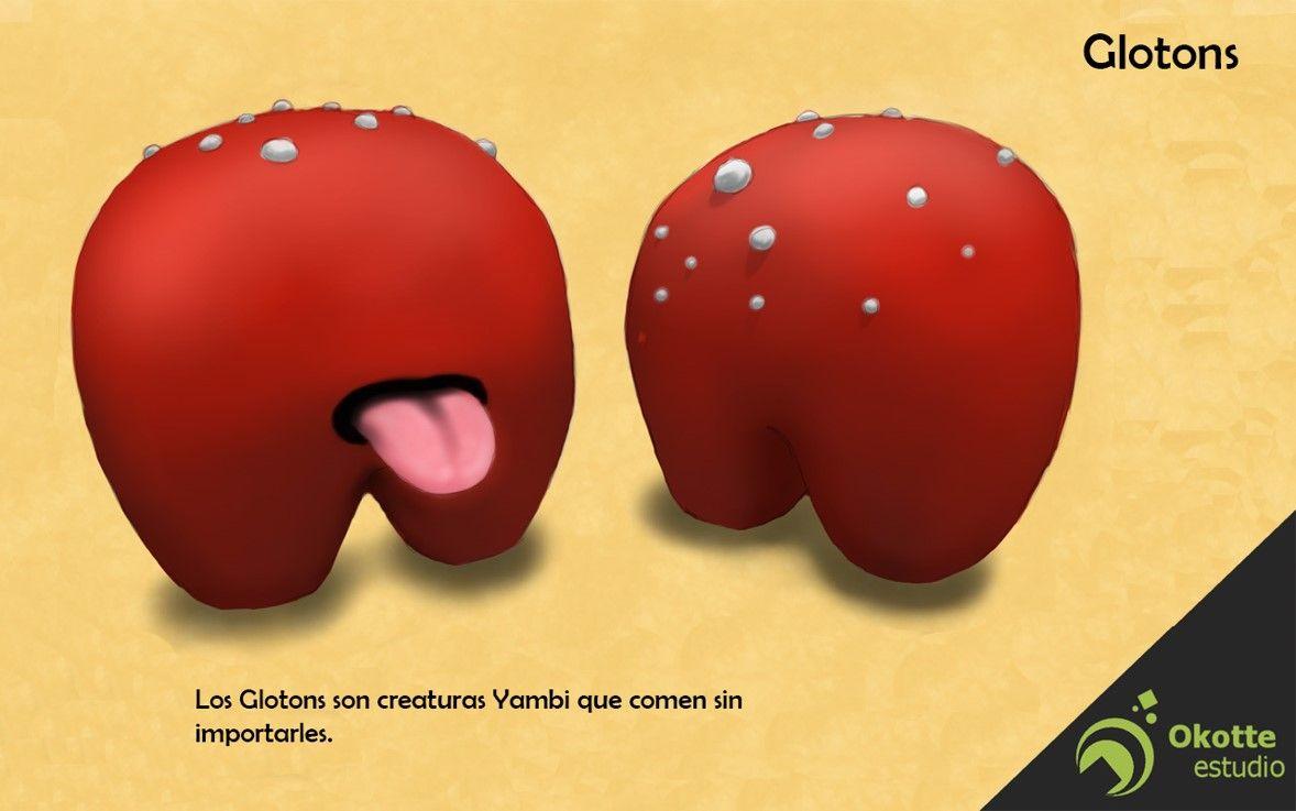 Glotons, personajes C Tale.  Los Glotons son criaturas Yambi que comen sin importarles.