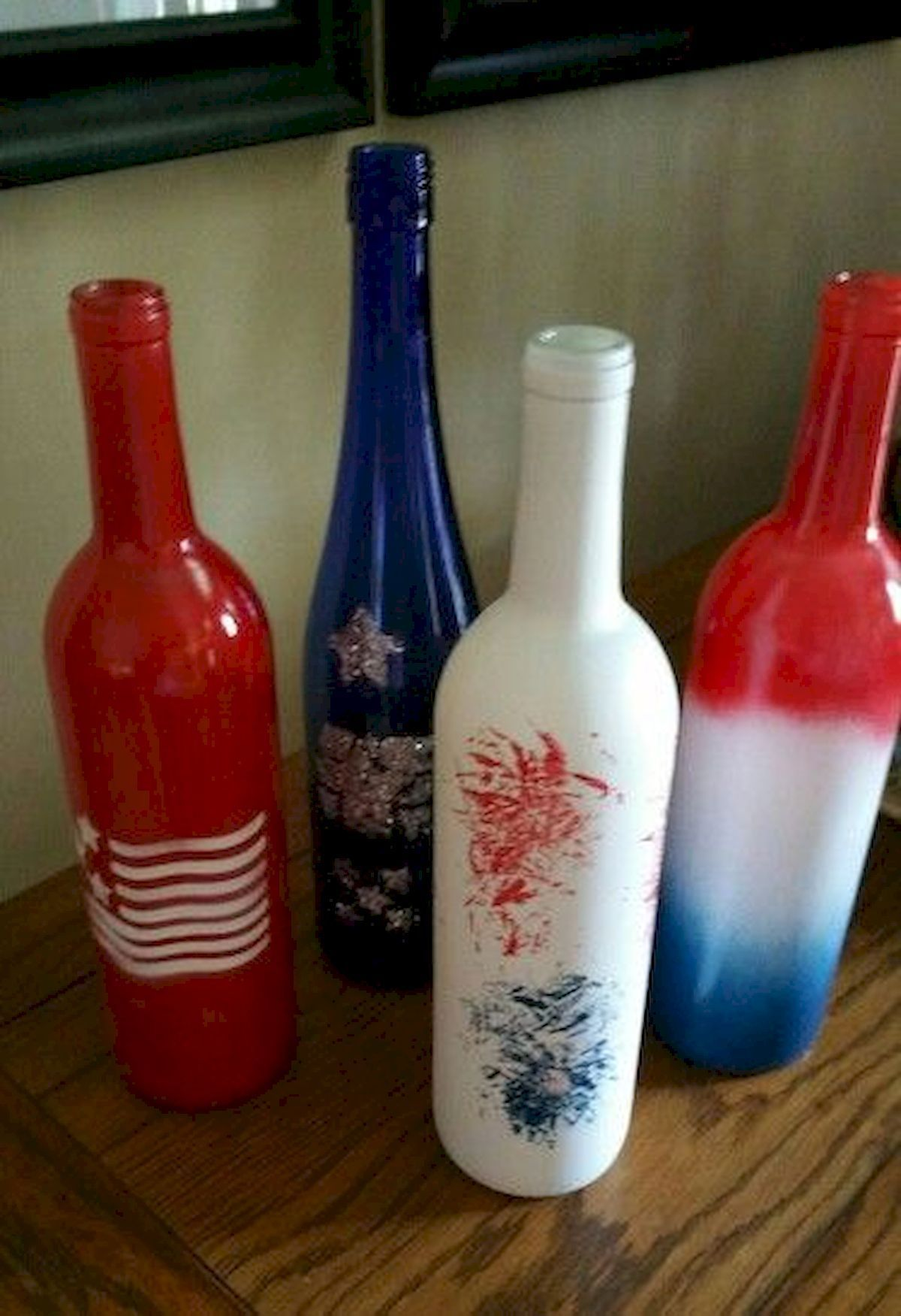 80 Diy America Independence Day Decor Ideas And Design Http Prohomedecor Info 80 Diy America Independence Bottle Crafts Wine Bottle Decor Bottles Decoration
