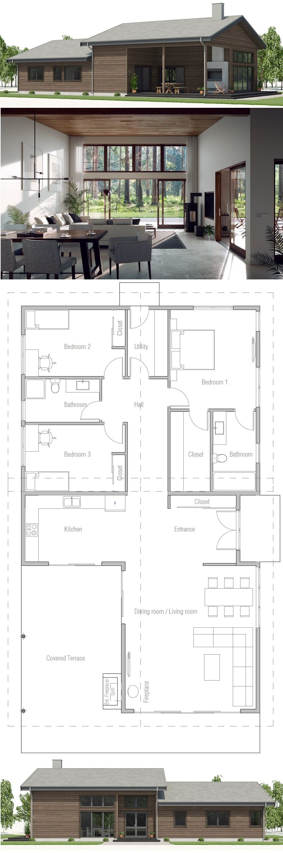 Litet Hus Hus Plan Huisplan Affordable House Plans Small House Plans House Plans